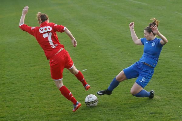 17-04-2018 - Liege - Standard Liege - KRC Genk Ladies - Nathalie Weytjens of KRC Genk Ladies - Anaelle Wiard of Standard De Liege