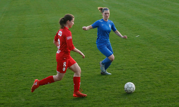 17-04-2018 - Liege - Standard Liege - KRC Genk Ladies - Floor Caelen of KRC Genk Ladies - Sanne Schoenmakers of Standard De Liege
