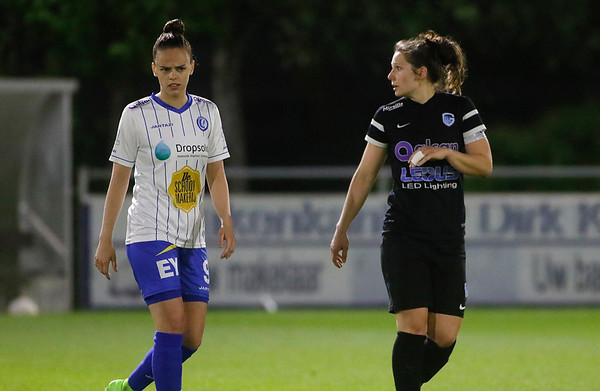 Gent - 27-04-2018 - KAA Gent Ladies - KRC Genk Ladies - Amber Maximus of KAA Gent Ladies - Nathalie Weytjens of KRC Genk Ladies