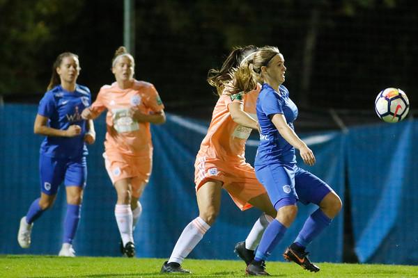 13-10-2018 - Genk - Super League - KRC Genk Ladies - RSC Anderlecht - Laura De Neve of RSC Anderlecht - Lisa Verhoeven of KRC Genk Ladies