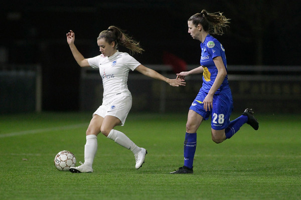 2018-12-21 - Gent - KAA Gent Ladies - KRC Genk Ladies - Liv Aerts of KRC Genk Ladies - Nicky van den Abbeele of KAA Gent Ladies