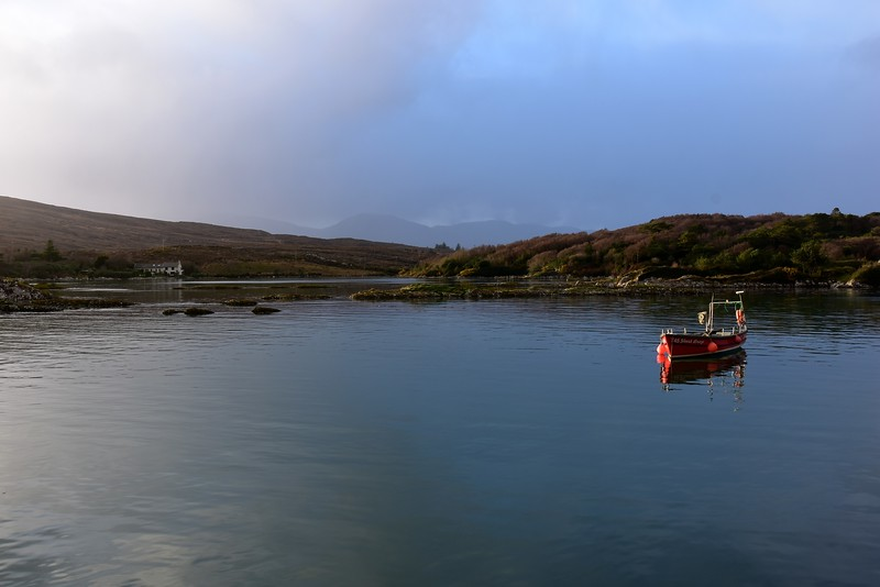View from Oysterbed Pier...looking towards channel to Sneem village