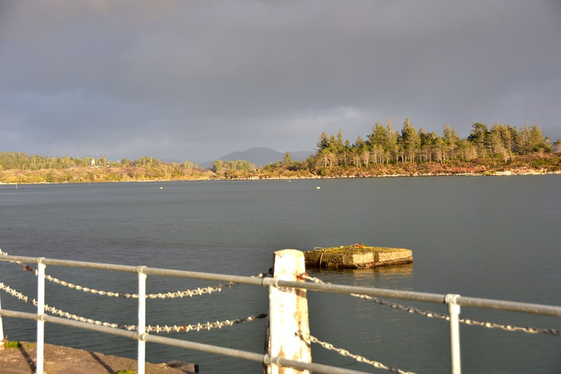 Sneem....Two of the FOUR Visitor's Moorings as viewed from Oysterbed Pier