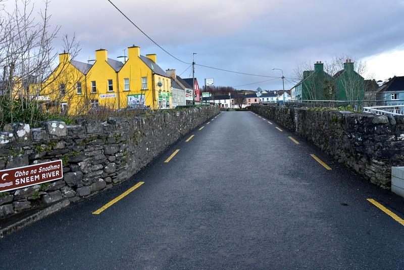 Sneem bridge which divides the village