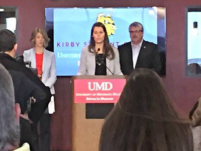 2017 05 30: Press Conference at UMinn Duluth, State Legistalive Leaders from area