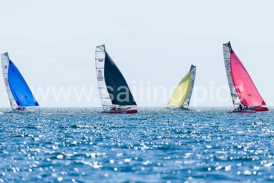 Fifth race day - 12 (for gold fleet), 13, 14 and 15 (for silver fleet) race F18 Worlds 2017 - Vallensbæk Sailing Club - 15, July 2017. Photo: Mogens Hansen