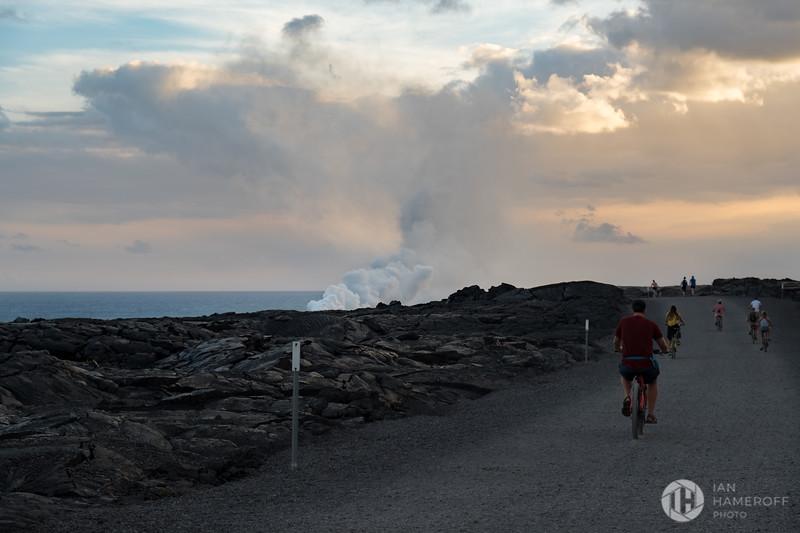 Reaching the End of the Trail, as the Lava Reaches the Sea