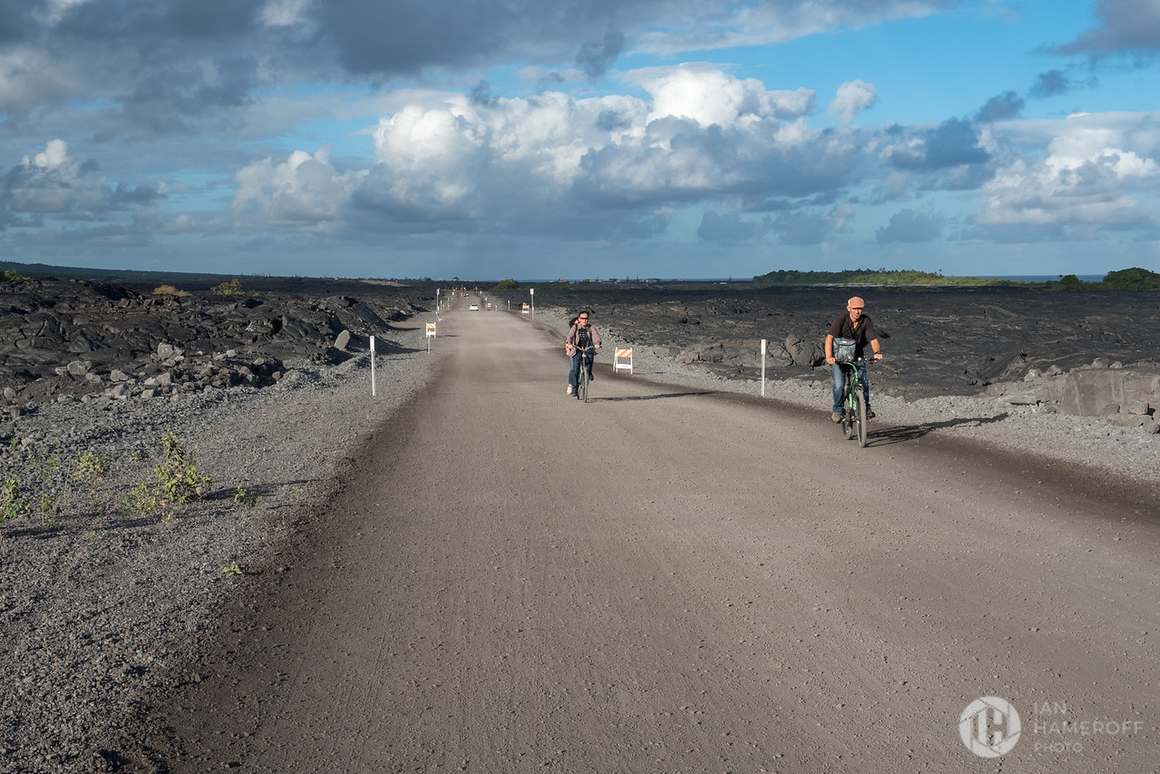 Bikers on the Lava Viewing Trail