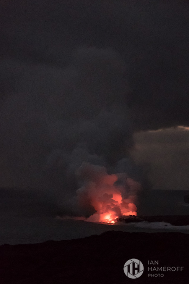 Volcanic Plume and the Sea