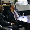 Ambassador Andrew Young, right, came to CDU to speak at the M. Alfred Haynes Lecture Series on December 4th.