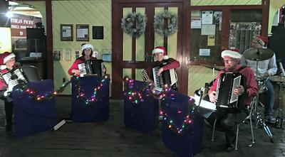 2017 12 10:  Swanoski Accordians, Christmas City Express, Duluth, MN