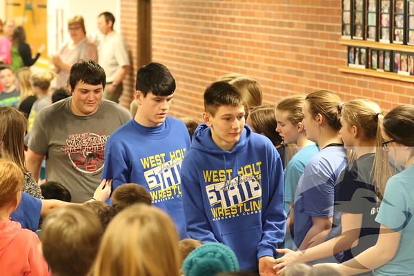 Feb 14 State Wrestling Send-Off