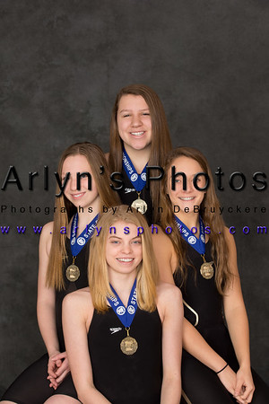 Girls State Swimmers