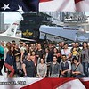 The whole crew about to take the USS Midway Museum tour!