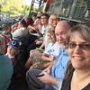 Ilya from Kazakhstan enjoys a local baseball game in Utah with his host family and extended family.