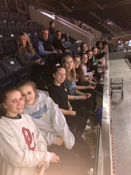 Varsity Girls Basketball Team at SMU vs Temple 1.31.18