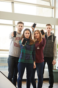 -UWL UW-L UW-La Crosse University of Wisconsin-La Crosse; February; Group; Inside; Phone Cell Smartphone; Relaxing; Research; Socializing; Student students; Studying; Talking