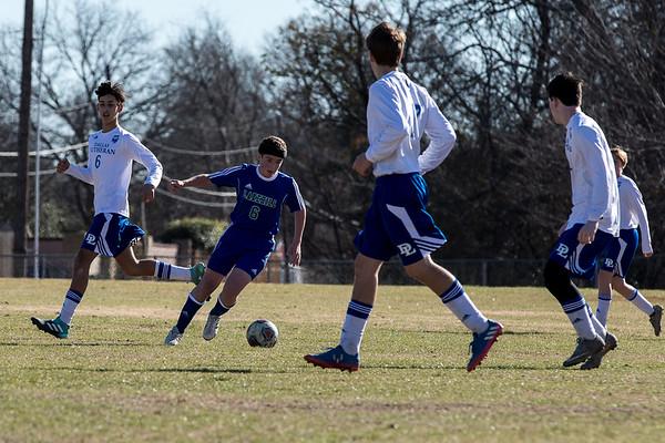 Varsity Soccer at Dallas Lutheran 1.13.18