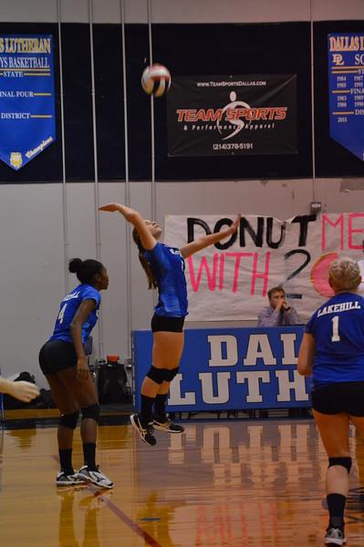 Varsity Volleyball at Dallas Lutheran 9.25.18