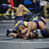 Northern Colorado's Sean Cannon and South Dakota State's Connor Brown image taken at the Big 12 Wrestling Championships, Saturday, March 03, 2018, BOK Center, Tulsa, OK. Brett Rojo/For The Big 12 Conference