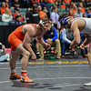 Oklahoma State's Keegan Moore and South Dakota State's Martin Mueller Sunday, March 04, 2018