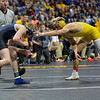 Wyoming's Bryce Meredith and South Dakota State's Henry Pohlmeyer Saturday, March 03, 2018
