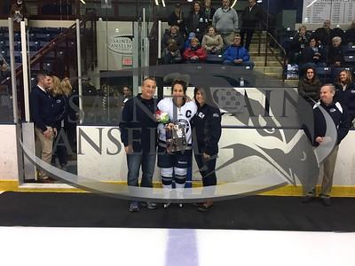 2018 Women's Ice Hockey Senior Day (02/17/18)