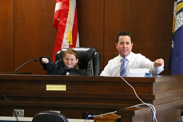2nd grade mock trial at Lafayette Parish Courthouse