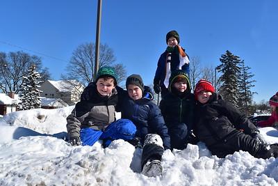 Enjoying the Snow at Recess
