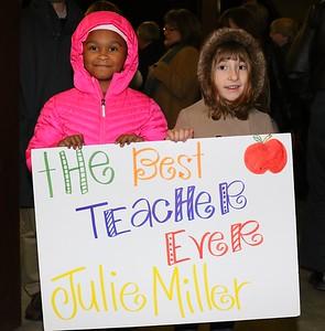 Julie Miller honored at LEF Teacher Awards ceremony 1.18.2018