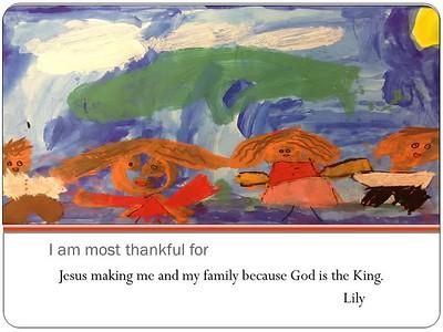 Kindergarten Thanksgiving chapel