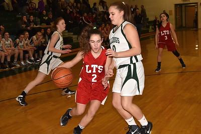 LTS Girls JV Basketball vs BBA photos by Gary Baker