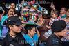 Nicaragua - Managua 01/08/2016 Millares de promesantes acudieron a la tradicional traida de Santo Domingo de Guzman de las Sierritas hacia la capital . Durante el recorrido de la diminuta imagen los socorristas de la CruzRoja brindaron atencion de primeros auxilios a varios promesantes y la Policia Nacional garantizo el orden durante todo el trayecto sin hechos que lamentar / The Santo Domingo de Guzman festival in Managua, Nicaragua, is filled with rituals and dancing, feasting, celebrations and worshipping - Thousands of people give thanks to Santo Domingo and ask for blessings during the 10-day festival / Nikaragua : Fest des Santo Domingo de Guzman , Schutzheiliger von Managua © Oscar Navarrete/LATINPHOTO.org