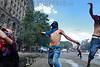 Argentina - Buenos Aires : Los disturbios obligan a suspender la reforma de las pensiones en Argentina - Antidisturbios lanzan bombas de gas contra manifestantes frente al Congreso en Buenos Aires / Riot front of the Congress to avoid the ratification of the retirment and work reform of Mauricio Macri Governement / Argentinen - Buenos Aires : Schwere Zusammenstösse bei Protesten gegen Rentenreform in Argentinien - Tausende Menschen nahmen an dem von Gewerkschaften organisierten Protest am 14.12.2017 teil © Geronimo Molina/LATINPHOTO.org
