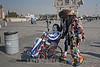 Mexiko : Payasos realizaron una peregrinación a la Basílica de Guadalupe en la Ciudad de México, a unos días de conmemorar el día de la Virgen de Guadalupe / Clowns made a pilgrimage to the Basilica of Guadalupe in Mexico City - Clown in a wheelchair / Mexico : Clowns pilgern zur Basilika von Guadalupe in Mexiko - Stadt - Clown im Rollstuhl © Irving Cabrera Torres/LATINPHOTO.org