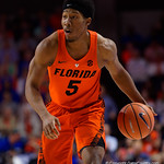 University of Florida Gators guard KeVaughn Allen dribbles up court during the first half as the Gators host the Kentucky Wildcats in Exactech Arena at the Stephen C. O'Connell Center in Gainesville, Florida.  March 3rd, 2018. Gator Country photo by David Bowie.