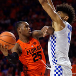 University of Florida Gators guard Keith Stone drives to the basket during the second half as the Gators take on the Kentucky Wildcats in Exactech Arena at the Stephen C. O'Connell Center in Gainesville, Florida.  March 3rd, 2018. Gator Country photo by David Bowie.