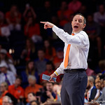 University of Florida Gators mens basketball head coach Mike White coaching up his team during the first half as the Gators host the Kentucky Wildcats in Exactech Arena at the Stephen C. O'Connell Center in Gainesville, Florida.  March 3rd, 2018. Gator Country photo by David Bowie.