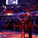 University of Florida Gators mens basketball head coach Mike White during senior day festivities in Exactech Arena at the Stephen C. O'Connell Center in Gainesville, Florida.  March 3rd, 2018. Gator Country photo by David Bowie.