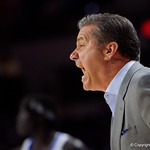 Kentucky Wildcats coach John Calipari coaching up his team during the first half as the Gators host the Kentucky Wildcats in Exactech Arena at the Stephen C. O'Connell Center in Gainesville, Florida.  March 3rd, 2018. Gator Country photo by David Bowie.