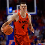 University of Florida Gators guard Egor Koulechov during the second half as the Gators take on the Kentucky Wildcats in Exactech Arena at the Stephen C. O'Connell Center in Gainesville, Florida.  March 3rd, 2018. Gator Country photo by David Bowie.