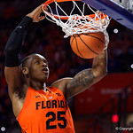University of Florida Gators guard Keith Stone dunking during the second half as the Gators take on the Kentucky Wildcats in Exactech Arena at the Stephen C. O'Connell Center in Gainesville, Florida.  March 3rd, 2018. Gator Country photo by David Bowie.