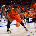 University of Florida Gators guard Keith Stone during the first half as the Gators host the Kentucky Wildcats in Exactech Arena at the Stephen C. O'Connell Center in Gainesville, Florida.  March 3rd, 2018. Gator Country photo by David Bowie.