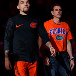 University of Florida Gators guard Chris Chiozza is honored during senior day ceremonies as the Gators host the Kentucky Wildcats in Exactech Arena at the Stephen C. O'Connell Center in Gainesville, Florida.  March 3rd, 2018. Gator Country photo by David Bowie.