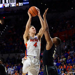 University of Florida Gators guard Egor Koulechov during the second half as the Gators win their SEC opener 81-74 over the Vanderbilt Commodres in Exactech Arena at the Stephen C. O'Connell Center in Gainesville, Florida.  December 30th, 2017. Gator Country photo by David Bowie.