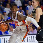 University of Florida Gators guard Keith Stone during the first half as the Gators lead 40-20 over the Vanderbilt Commodres in Exactech Arena at the Stephen C. O'Connell Center in Gainesville, Florida.  December 30th, 2017. Gator Country photo by David Bowie.