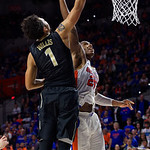 University of Florida Gators guard Keith Stone during the second half as the Gators win their SEC opener 81-74 over the Vanderbilt Commodres in Exactech Arena at the Stephen C. O'Connell Center in Gainesville, Florida.  December 30th, 2017. Gator Country photo by David Bowie.