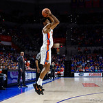 University of Florida Gators guard Jalen Hudson during the second half as the Gators win their SEC opener 81-74 over the Vanderbilt Commodres in Exactech Arena at the Stephen C. O'Connell Center in Gainesville, Florida.  December 30th, 2017. Gator Country photo by David Bowie.
