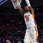 University of Florida Gators forward/center Kevarrius Hayes during the first half as the Gators lead 40-20 over the Vanderbilt Commodres in Exactech Arena at the Stephen C. O'Connell Center in Gainesville, Florida.  December 30th, 2017. Gator Country photo by David Bowie.