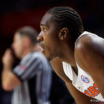 University of Florida Gators guard Deaundrae Ballard during the first half as the Gators lead 40-20 over the Vanderbilt Commodres in Exactech Arena at the Stephen C. O'Connell Center in Gainesville, Florida.  December 30th, 2017. Gator Country photo by David Bowie.